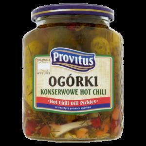Provitus Ogórki konserwowe HOT Chilli 720 ml