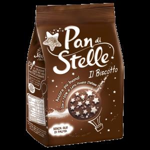 Ciastka kakaowe z orzechami laskowymi 350g | Pan di Stelle